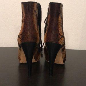 74d31e5642075f Sam Edelman Shoes - Sam Edelman Pony Hair snake  ankle boots 8